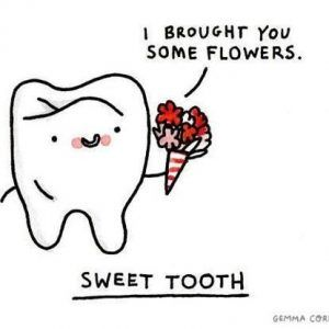 valentine's day teeth sweetest tooth