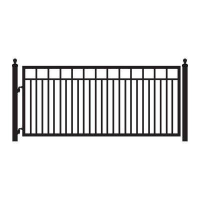 Mighty Mule Sanibel 12 ft. x 4 ft. 8 in. Powder Coated Steel Single Driveway Gate-G1612-KIT - The Home Depot