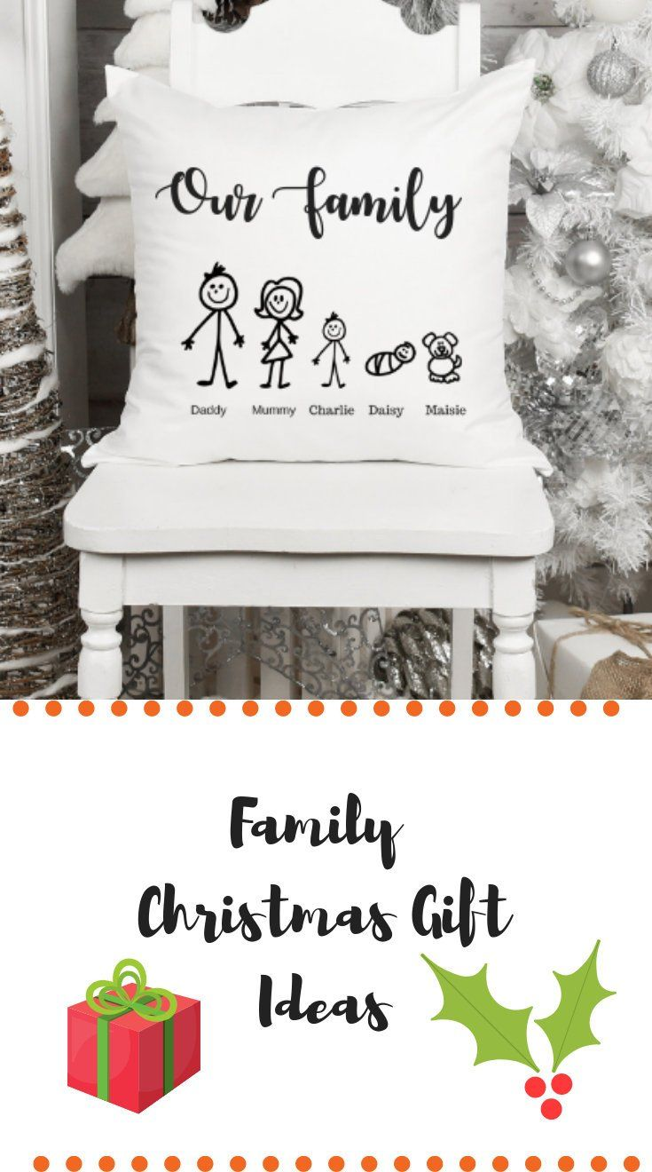 Family Christmas Gift Idea Personalised Family Cushion With Each Member Of The Family And Name If You Family Tree Gift Personalized Christmas Gifts Tree Gift