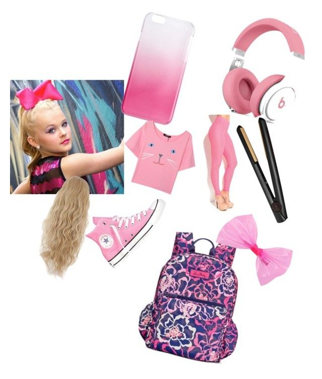 """""""Jojo Siwa"""" by dancemomsloverx ❤ liked on Polyvore featuring Converse, Vera Bradley, J.Crew and GHD"""