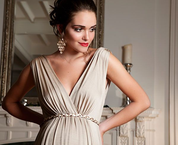 Anastasia Maternity Gown (Gold Dust) - Maternity Wedding Dresses, Evening Wear and Party Clothes by Tiffany Rose