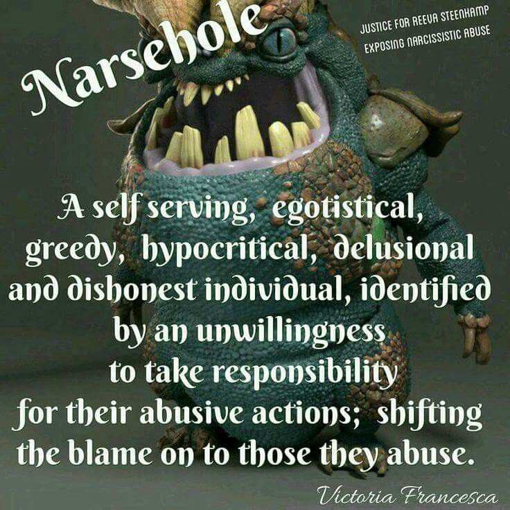 Narsehole!!!!! Frickin Perfect description of him!!