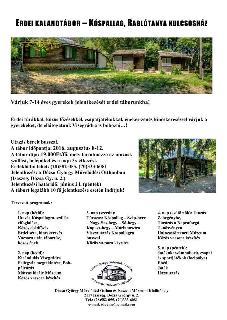 Erdei Tábor augusztus8-12
