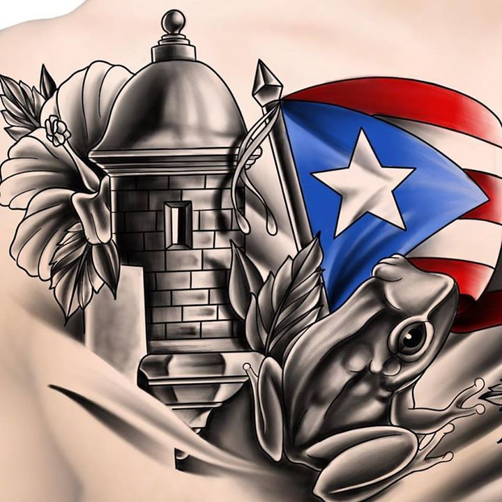 Got this #puertorico themed #chestpiece going down today. Really excited. - http://ift.tt/1HQJd81