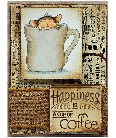Stampendous HMCV04 Cling Rubber Stamp - House Mouse - Warm Cup