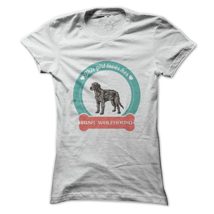 This girl loves her Irish Wolfhound