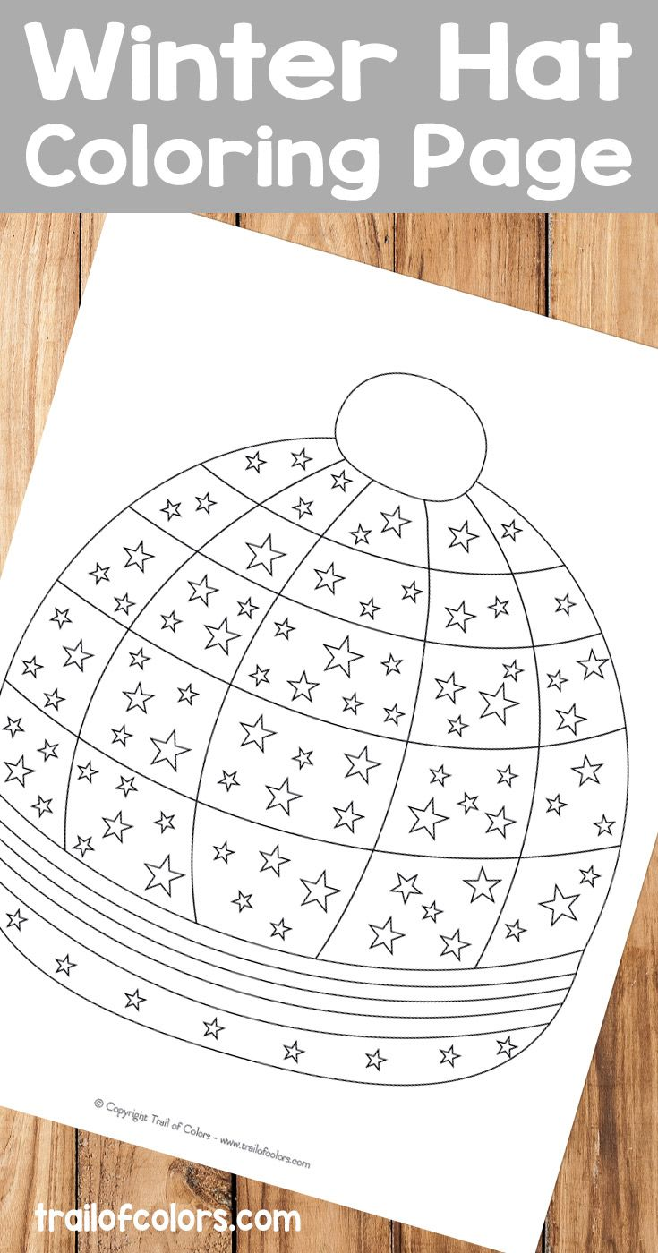 Winter fun coloring sheets - Ready To Decorate A Winter Hat With Your Favorite Colors This Detailed Winter Hat Coloring