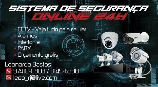 Kit câmeras de segurança (cftv), interfone, alarmes e portão eletrônico