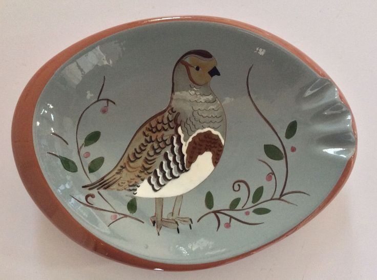 Vintage RARE Stangl Art Pottery Partridge Ashtray  | eBay