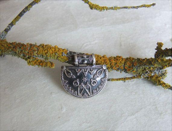 Colgante de plata Rajastán joyería India por CaliuEthnicJewellery