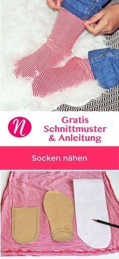 Socken selber nähen | gratis Muster | Pinterest | Nähen, Selber ...