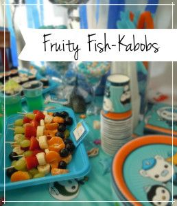 Fruity Fish Kabobs for sea themed party