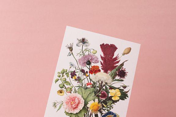 Language of flowers valentine printable
