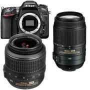 Nikon D7100 Camera + Nikon 18-55mm VR II + Nikon 55-300mm VR Twin Camera Lens kit