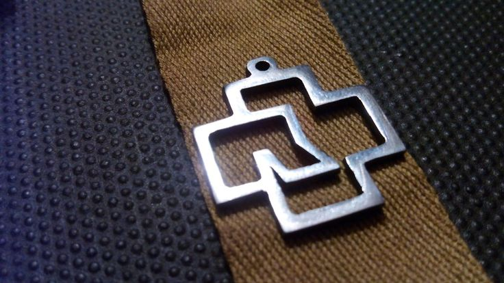 Rammstein logo handmade necklace