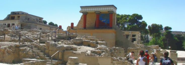 Minoan Knossos Palace & Archaeological Site, Crete island, Greece