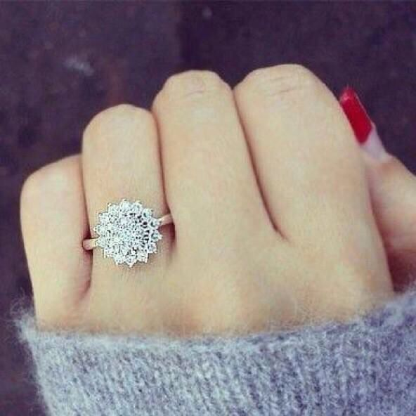 This ring would be perfect!! It's flat, vintage, AND looks like a snowflake!!!