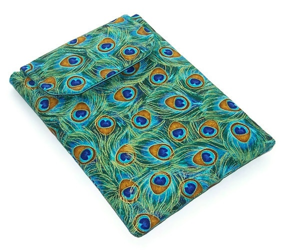 Ipad Mini Cover, Blackberry Playbook Sleeve,  Peacock Feathers £15.00
