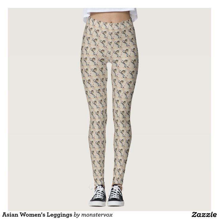 Asian Women's Leggings #Leggings #Yoga #Pants #Activewear #Sports #SportsWear #Athletic #Fashion #Design #Asian #Japan #Japanese #Owl