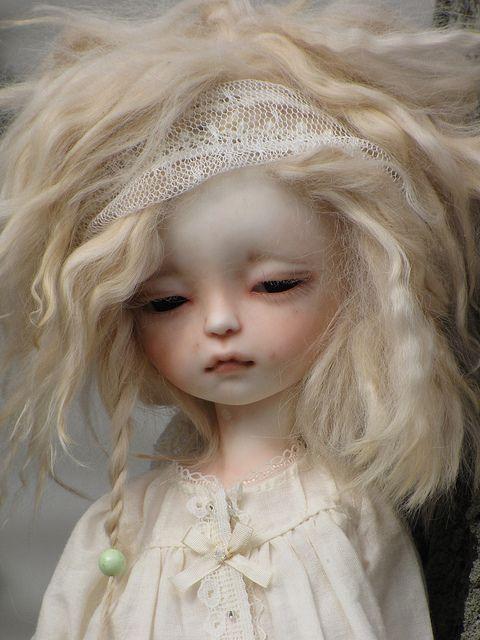 Soom sleepy eyed Modigli is  white skin with custom faceup by ElfinHugs  #dollsoom