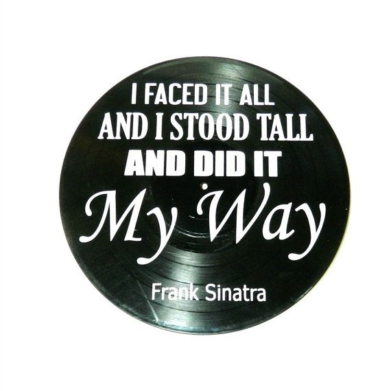 Frank Sinatra My Way song lyrics vinyl on vinyl by VinylRevamped