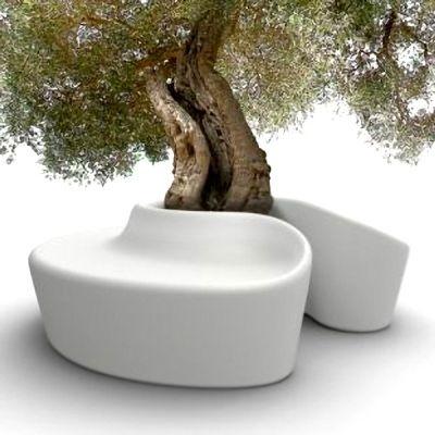 SARDANA Bench: light up your outdoor spaces with this spectacular bench! 13 colors - deco and design - QEP POT SARDAN OPTIONS: Sardana Bench only