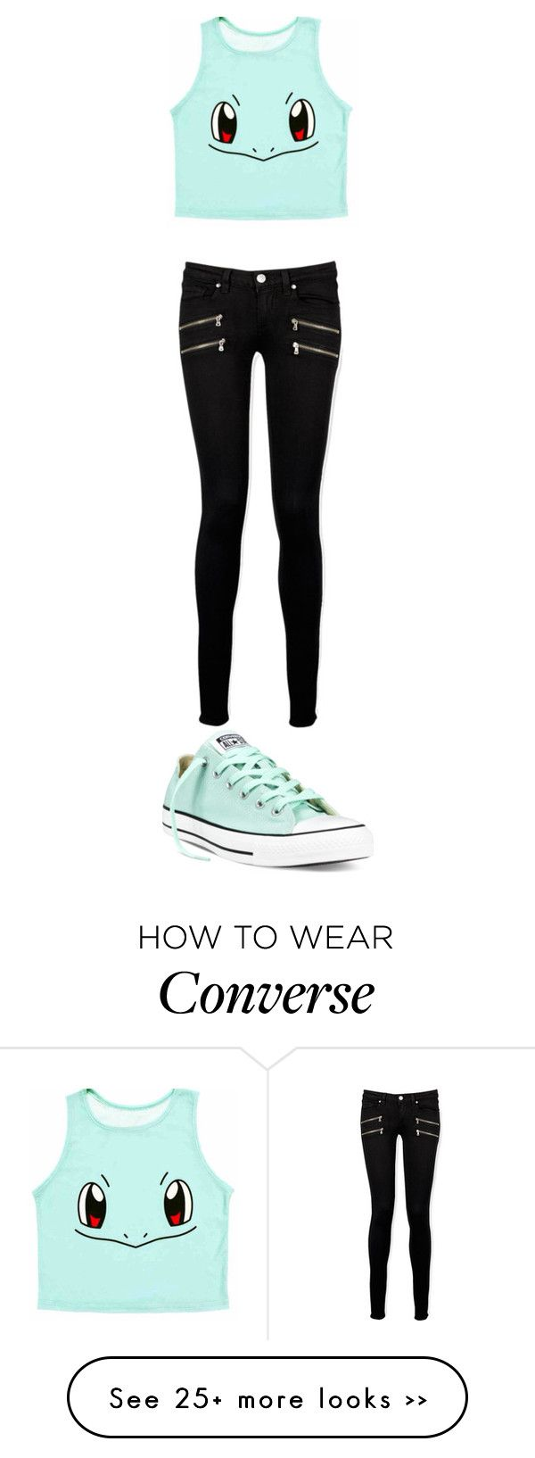 """Carapuce #Batman"" by directionerinfinitylove on Polyvore featuring Converse and Paige Denim"