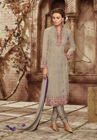 #Zubeda First Lady Georgette #SalwarKameez Suit 11903 #Grey