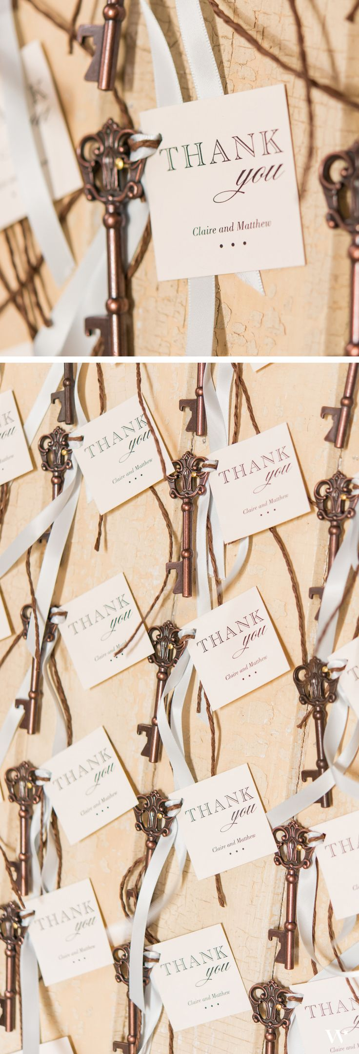 Create DIY favors your guests will adore with our Antique Inspired Key Bottle Opener attached to our Burlap Chic Thank You Tags! Grab them both starting here: http://www.weddingstar.com/product/burlap-chic-square-tag