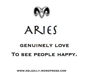 Aries are genuine. Period!