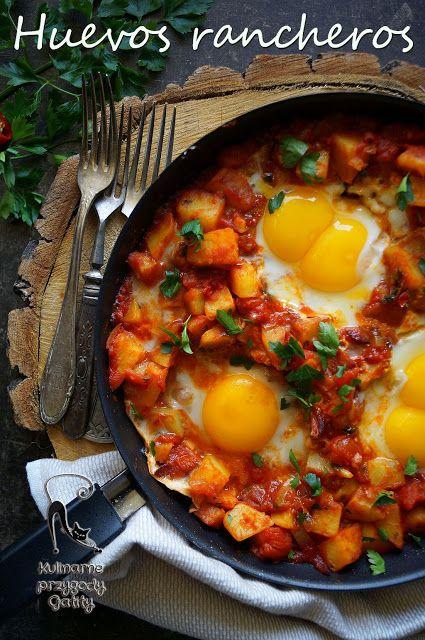Kulinarne przygody Gatity: Huevos rancheros, czyli jajka po meksykańsku  z ol...