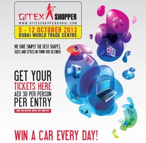 Mark your calendars! GITEX Shopper from 5 - 10 October 2013 opening from 11:00am to 11:00pm! Did you register yet? احفظوا التاريخ! جيتكس شوبر من 5 - 10 أكتوبر من الساعة 11 صباحاً وحتى 11 ليلاً! هل سجلتم؟
