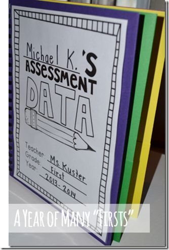 I need to make these assessment data folders for each kid. Way more organized than the file folders I am using.