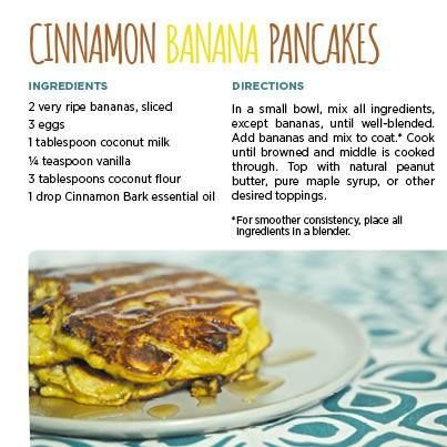 11 best dterra food recipes images on pinterest essential oils cooking with essential oils cinnamon banana pancakes using only 1 drop of cinnamon essential forumfinder Choice Image