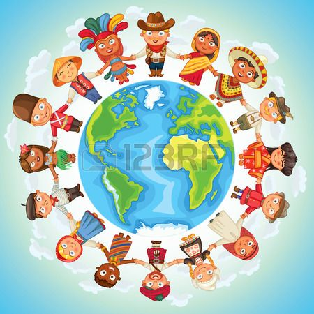 Multiculturele Karakter Op De Planeet Aarde Culturele Diversiteit Traditionele Klederdrachten Royalty Vrije Cliparts, Vectoren, En Stock Illustratie. Image 34915759.