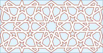 The pattern taken from an Egyptian door based on ten point geometry