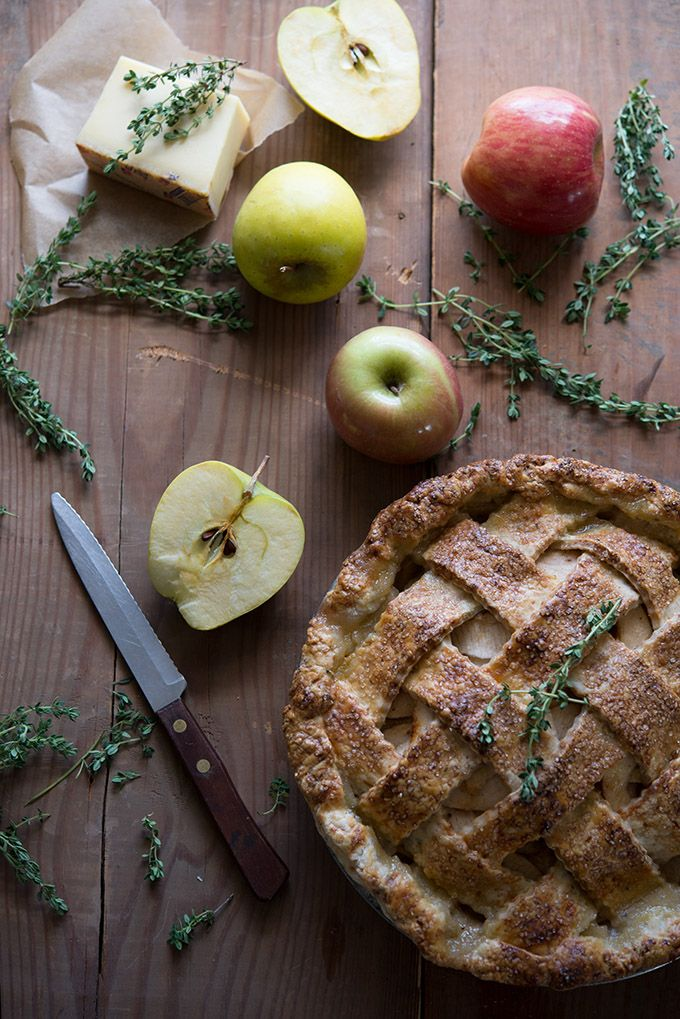 Apple Pie with Smoky Gruyère Thyme Crust | This is an award-winning pie recipe inspired by Jack Kerouac's love affair with apple pie in On The Road and my love affair with putting savory ingredients into dessert. A unique spin on classic apple pie. Click through for the recipe!