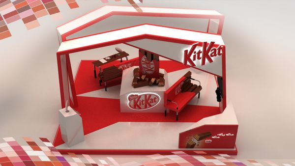 Nestle Exhibition Booth : Nestle kit kat d booth design innovative