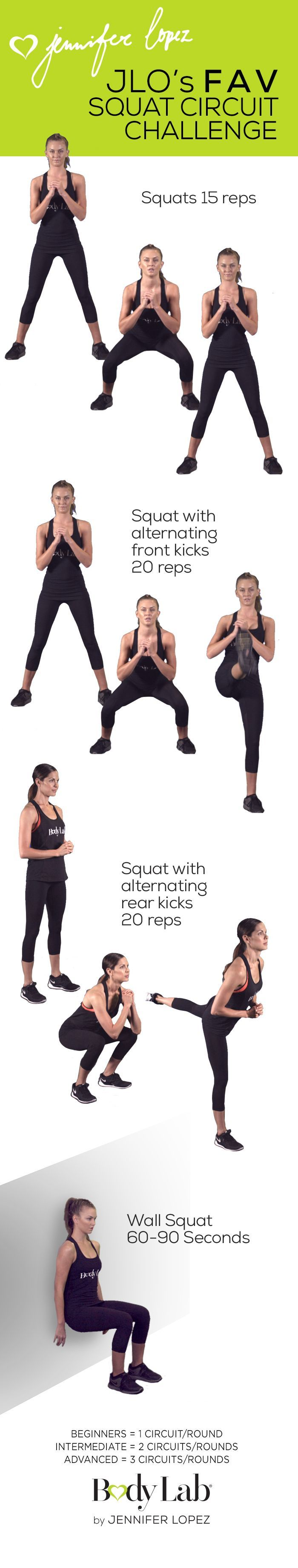 We know you want in on Jennifer Lopezs favorite workouts  Check out her favorite Squat Circuit Challenge   BeTheGirl