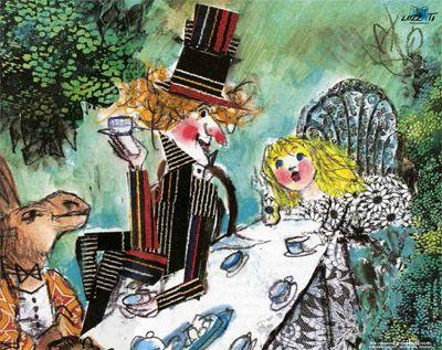 """La mostra """"Alice"""" presso il Museo Luzzati di Genova è una dedica ai 150 anni dalla prima edizione di """"Alice in Wonderlands"""" di Lewis Carroll."""