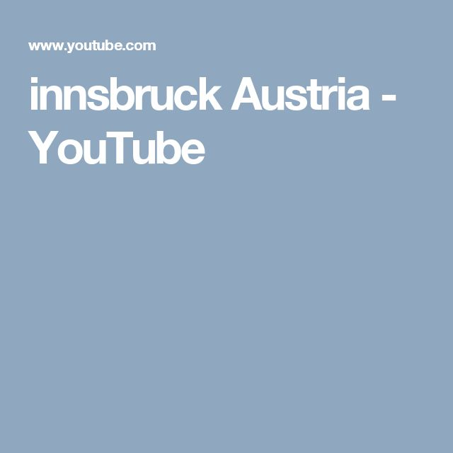 innsbruck Austria - YouTube
