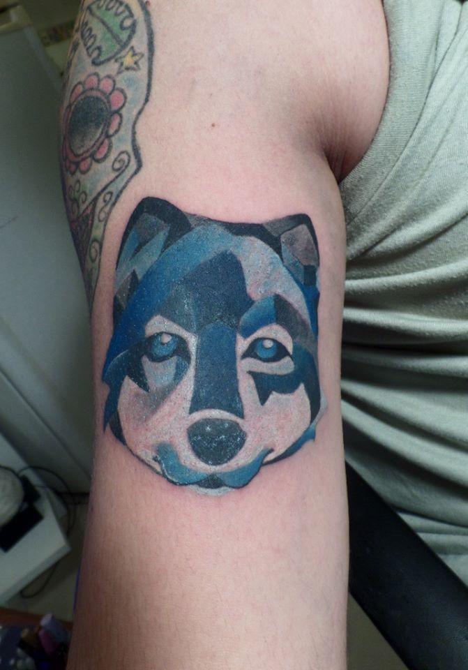 Wolf watercolor, acuarela tatuaje lobo, ink