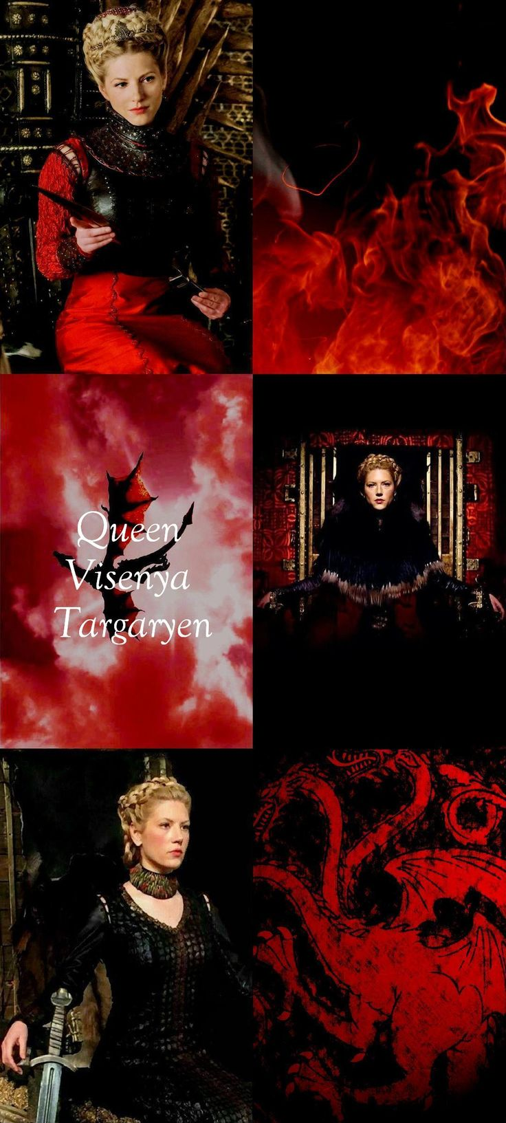 Queen Visenya Targaryen was the older of King Aegon I Targaryen's sisters. She was also one of his two wives.