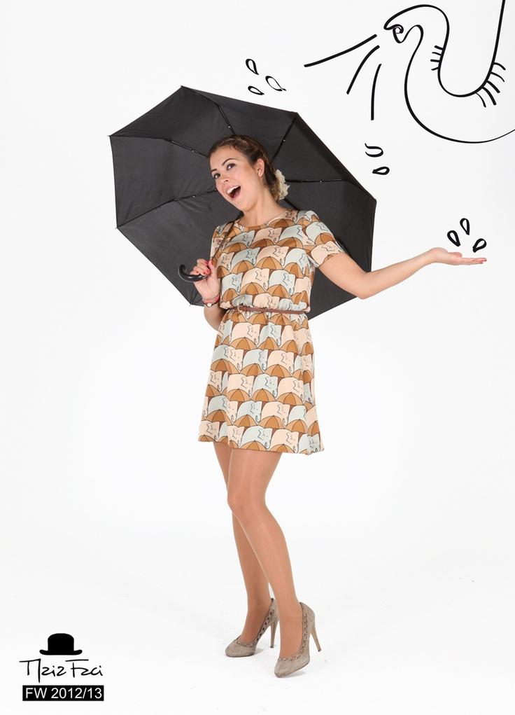 Maria Faci FW 2012/13. Elephants & Umbrellas Dress