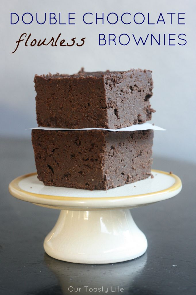 Keto Double Chocolate Flourless Brownies