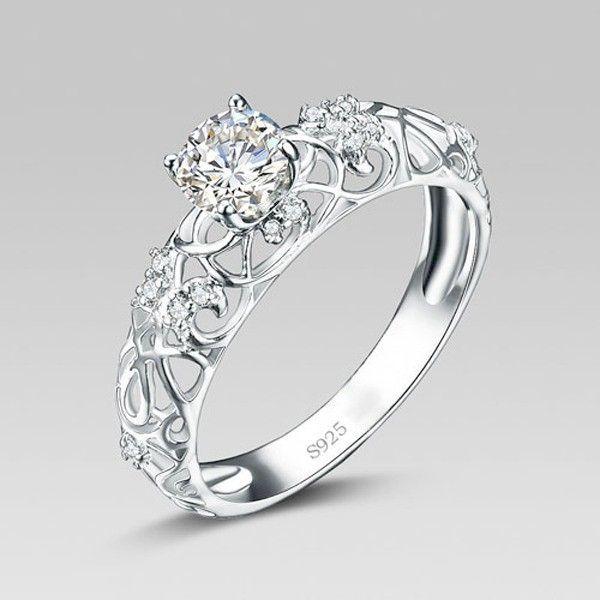 Sterling Silver Morganite Engagement Rings Sterling Silver Wedding