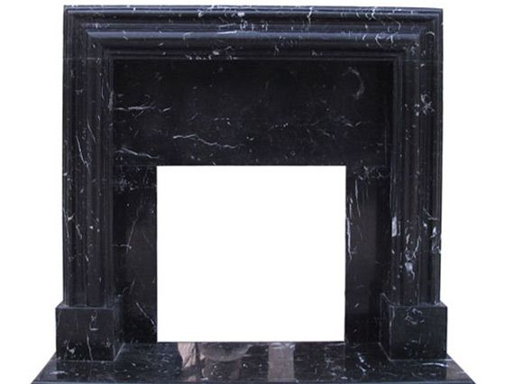 marble black fireplace mantel surrounds modern contemporary french traditional artisan kraft - Black Fireplace Mantels