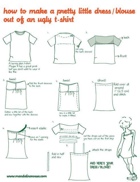 How to make a dress out of a t-shirt via Craft