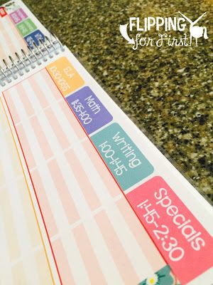 Print on Avery Full Sheet White Labels!  Simply type your schedule, print, cut, and stick!