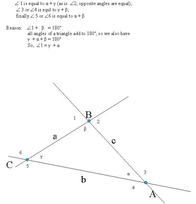 Exterior Math: Triangle Exterior And Interior Angle